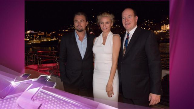 News video: Leonardo DiCaprio and Cameron Diaz Hung Out With Royalty